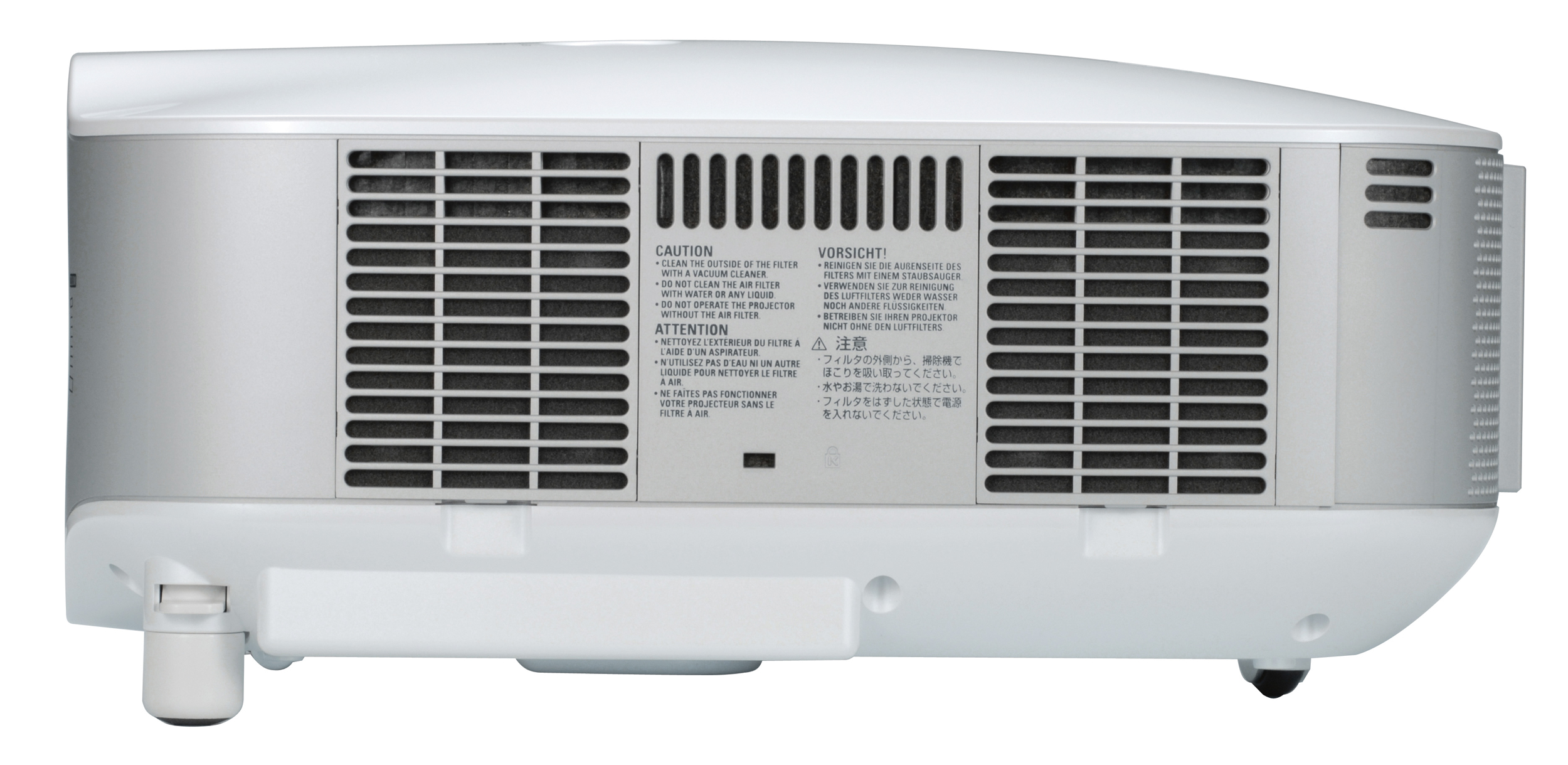 how to clean a nec projector filter